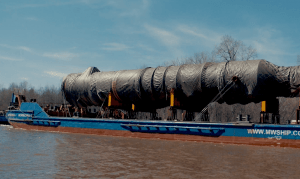 Transportation of oversized cargo for oil company