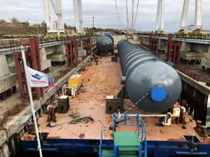 Transportation of oversized column NP equipment